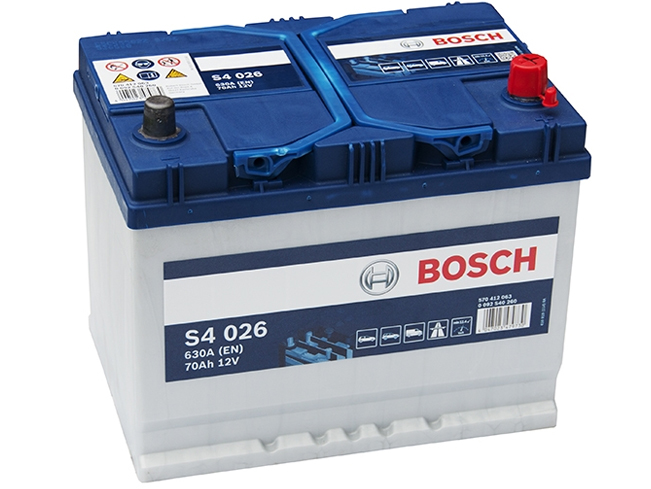 AUTOBATERIE BOSCH S4 12V 70AH 630A 0 092 S40 260