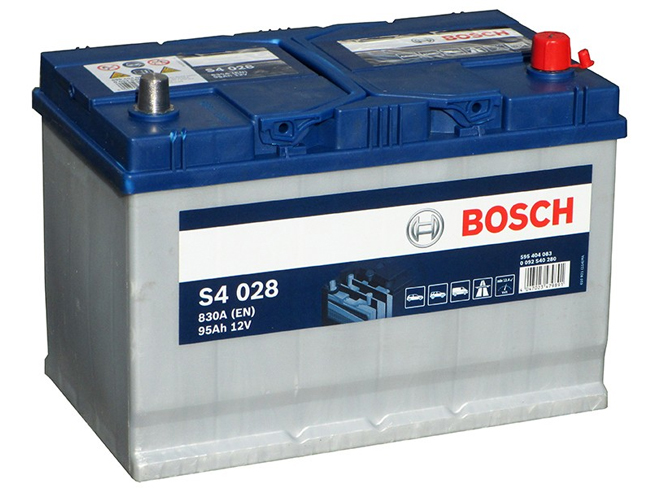 AUTOBATERIE BOSCH S4 12V 95AH 830A 0 092 S40 280