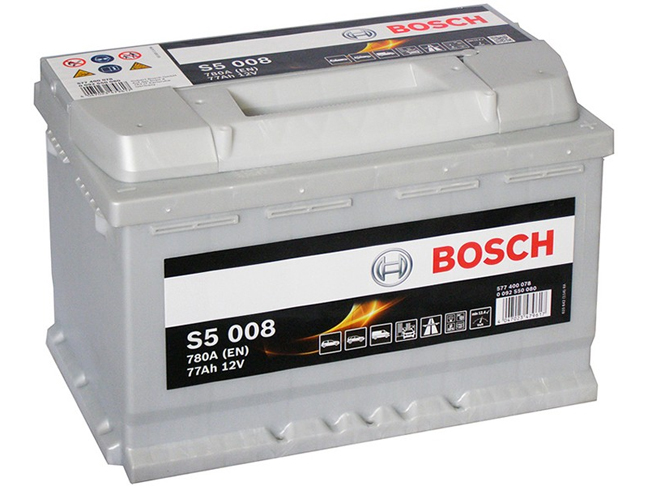 AUTOBATERIE BOSCH S5 12V 77AH 780A 0 092 S50 080
