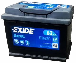 AUTOBATERIE EXIDE EXCELL 12V 62AH 540A EB620
