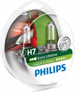Philips LongLife EcoVision 12972LLECOS2 H7 PX26d 12V 55W