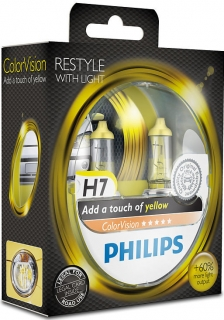 Philips ColorVision Yellow H7 12972CVPYS2 PX26d 12V 55W